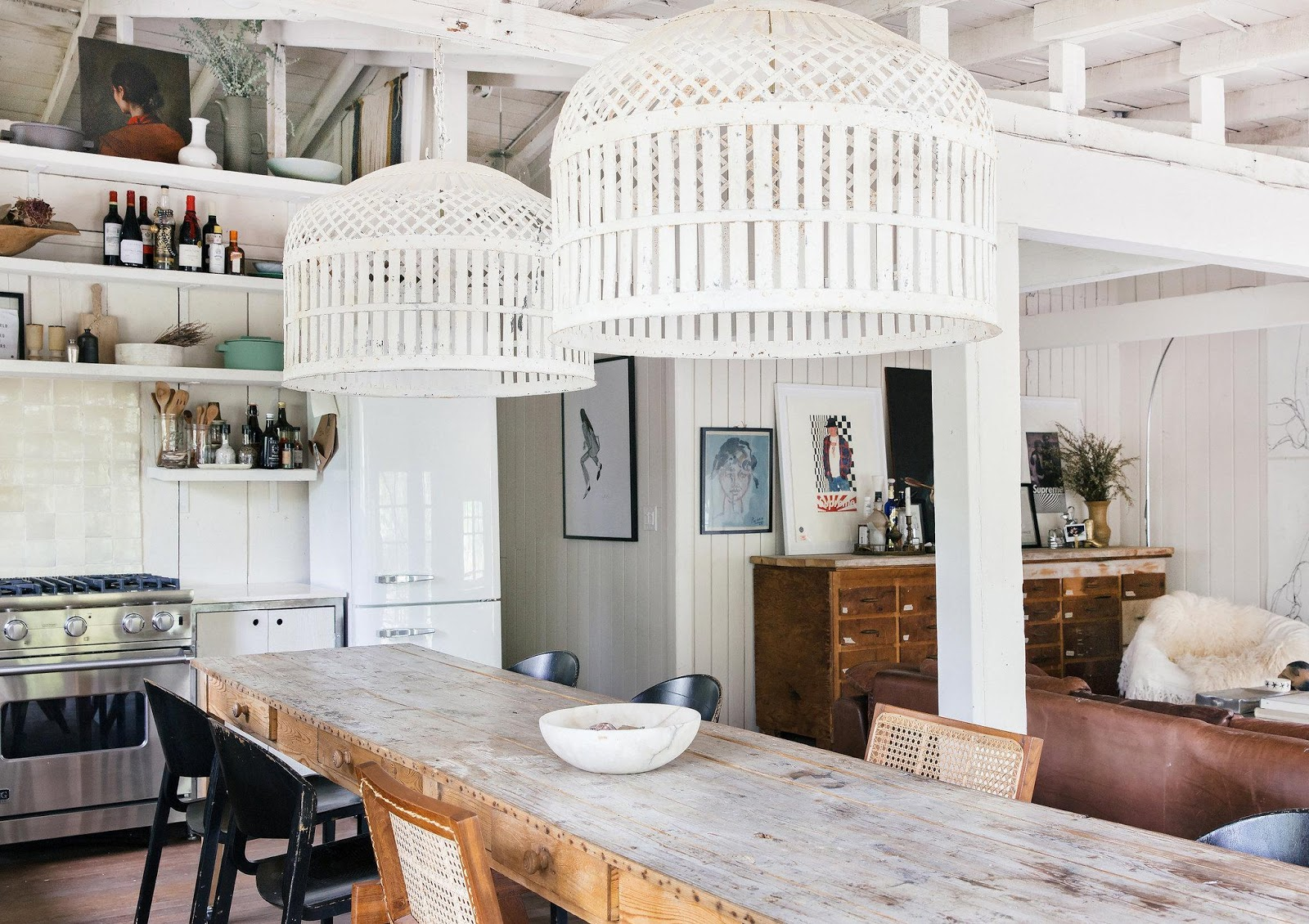 Leanne Ford's kitchen and dining room