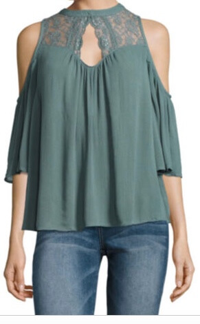 JCPenney Arizona Cold Shoulder Top