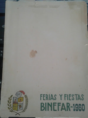 Portada Programa Fiestas Binéfar 1960