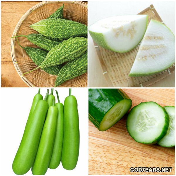 Vegetables like cucumber, bitter gourds, bottle gourds and ash gourds tend to have a high water content and are perfect for the hot summers