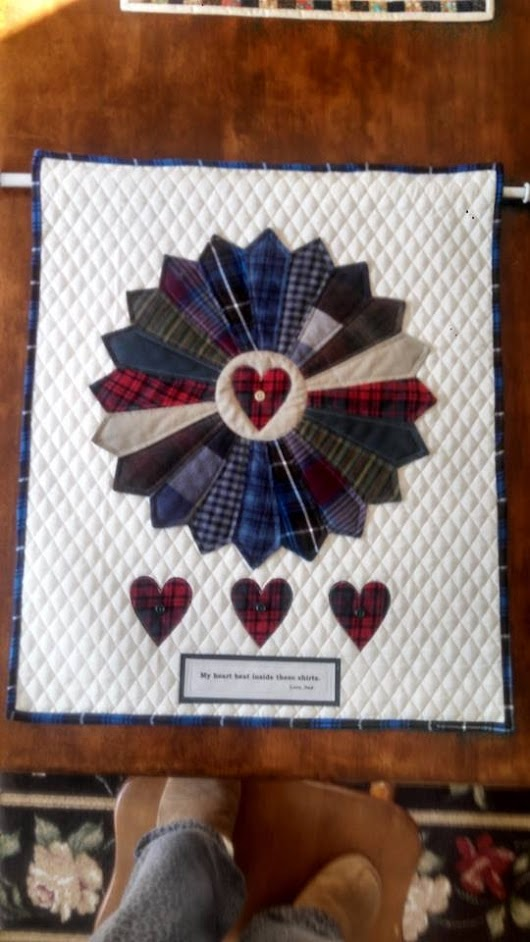 Quilted Memory Wall hanging