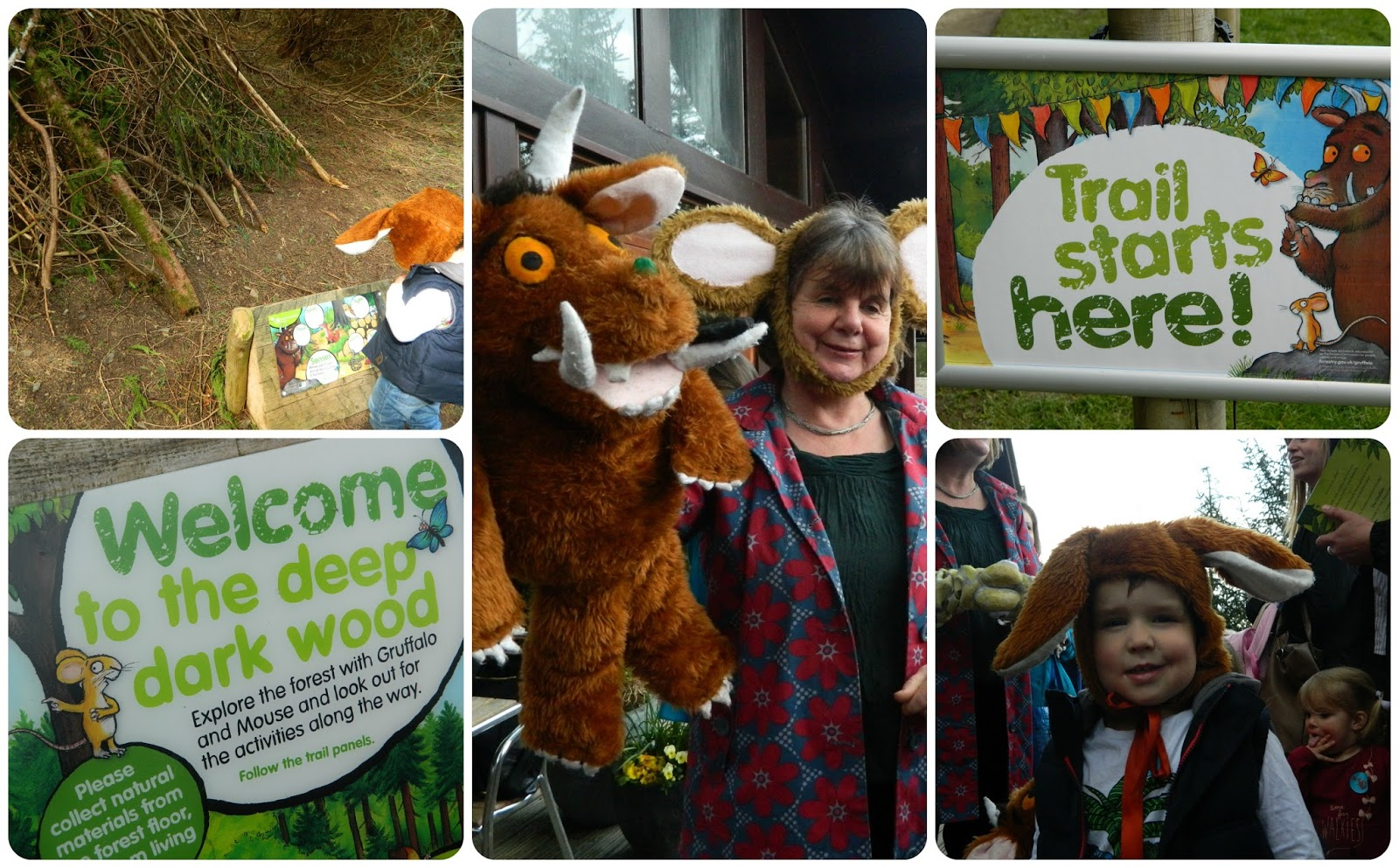 Julia Donaldson on the Gruffalo Trail at Whinlatter Forest