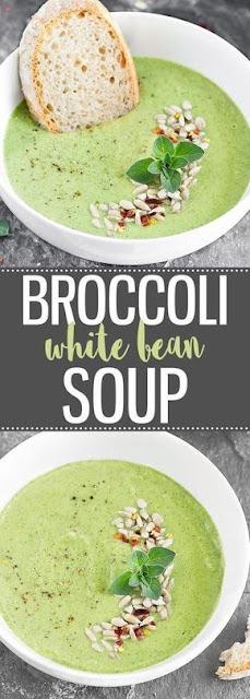 CREAMY BROCCOLI WHITE BEAN SOUP