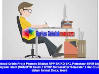 Prota Promes Silabus RPP SKI MTS Kelas 7 KTSP Berkarakter Semester 1 dan 2 Lengkap