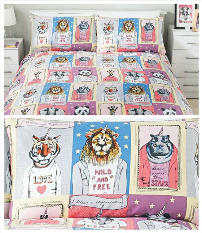 Animalcorns duvet set from Asda
