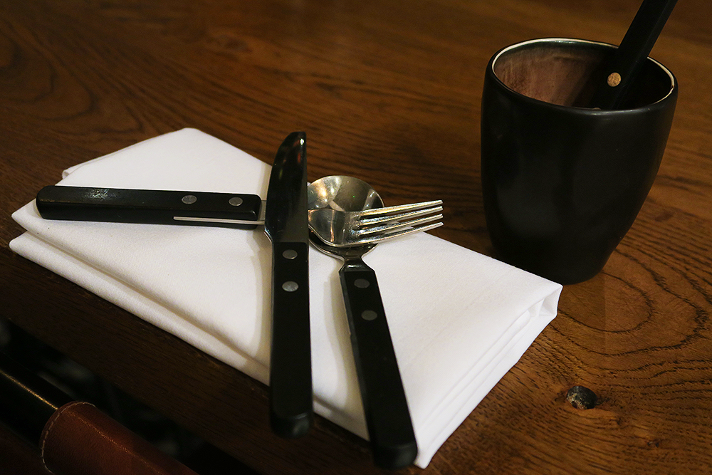 Table set at Firelake in Radisson Blu, Leeds