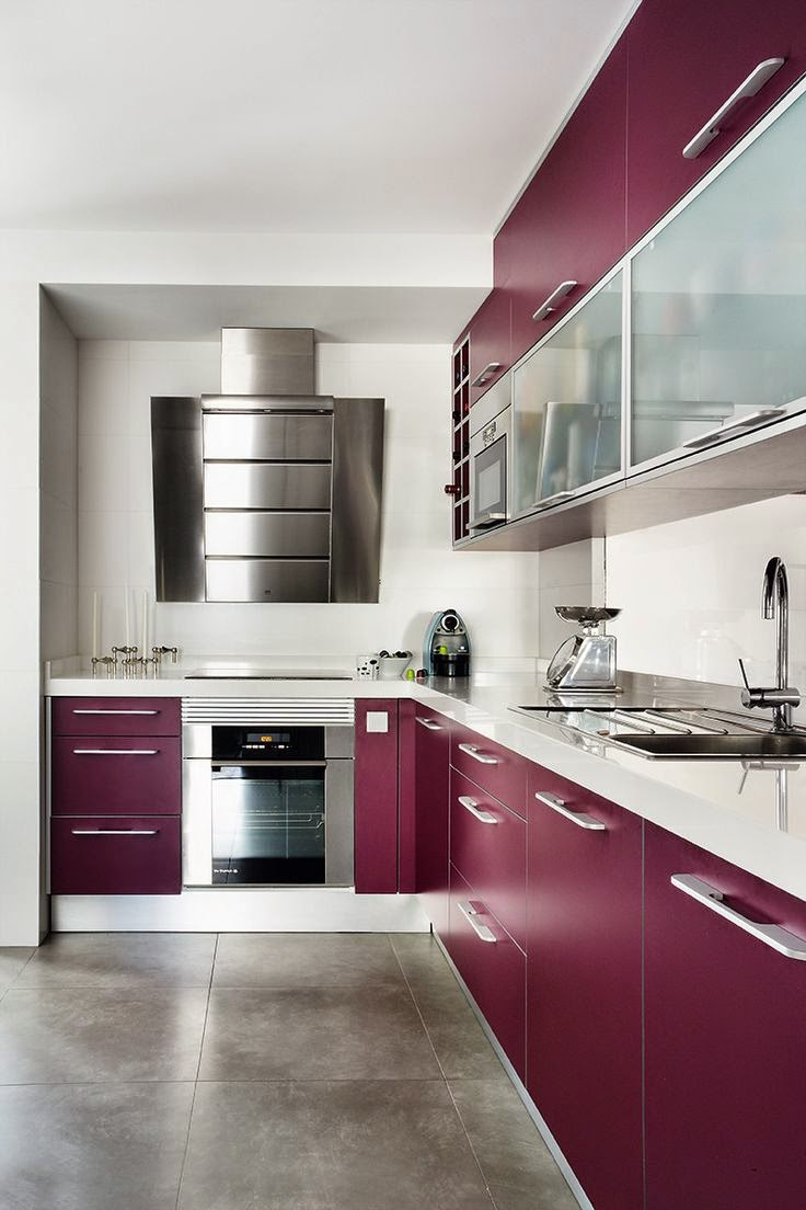 Pantone Fall 2014 Color Report Sangria Modern Kitchen Cabinets