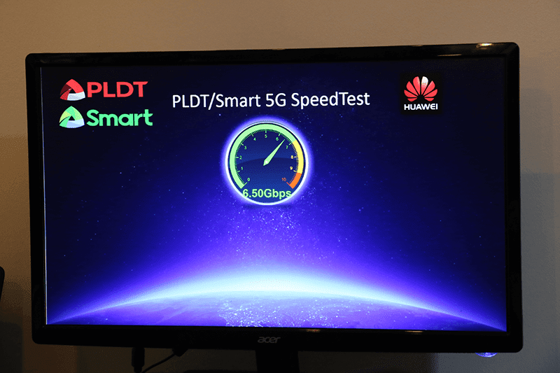 PLDT, Smart and Huawei achieved 6.5 Gbps of 5G speed!
