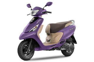Tvs Zest in matte purple