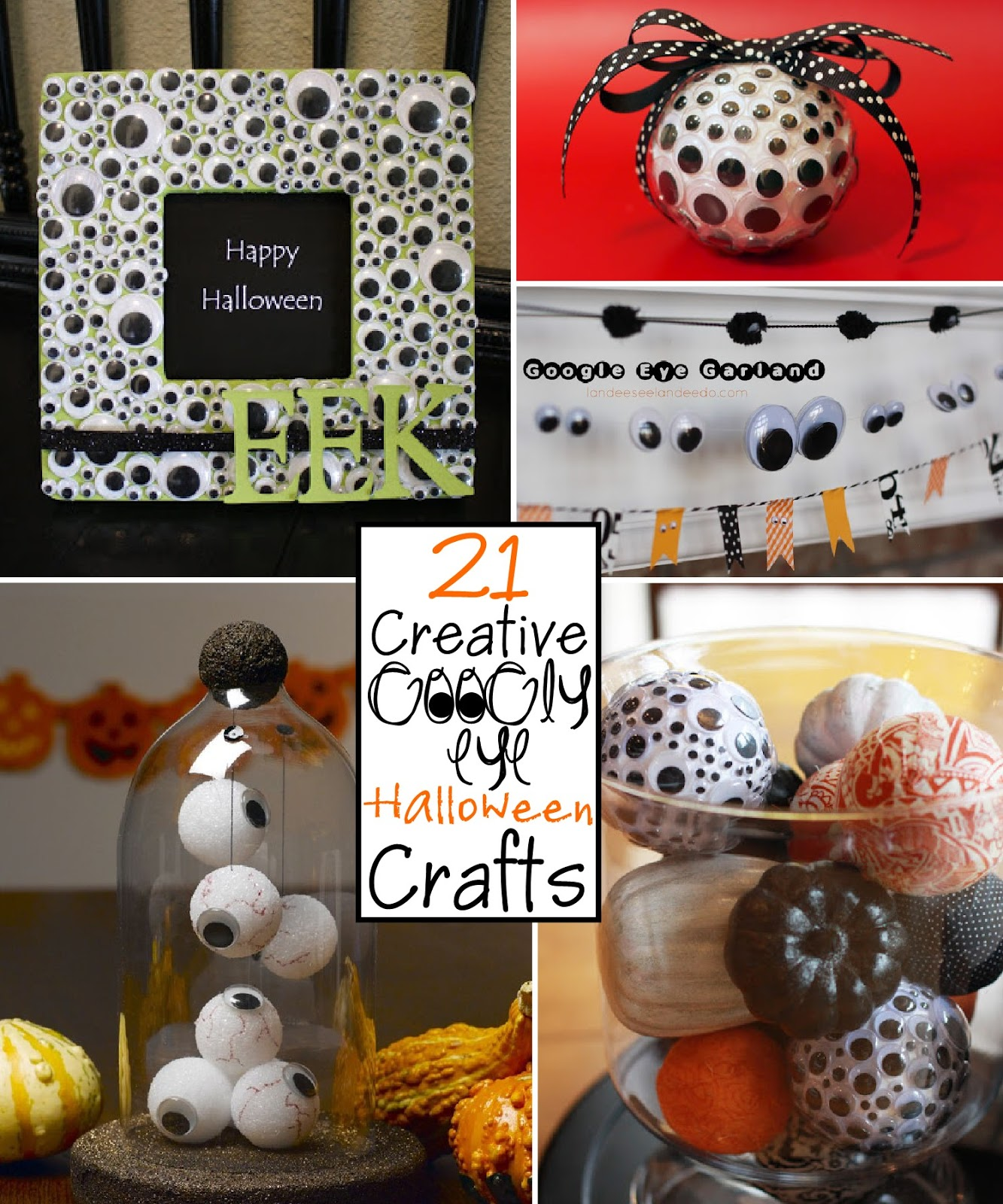 Creative Halloween Decoration Ideas: 21 Creative Googly Eye Halloween Crafts