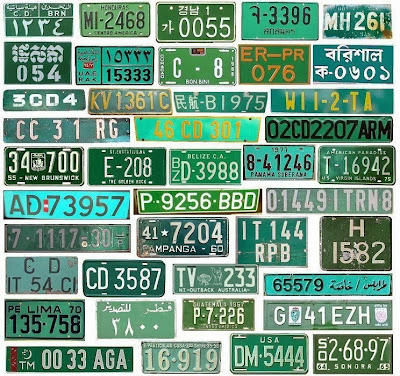 timeless design a374e c5ded Colourful licenseplates - a true work of art.