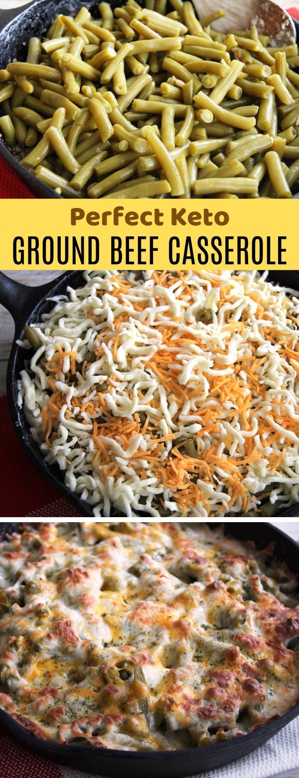 Perfect Keto Ground Beef Casserole #keto #beef #casserole #dinner