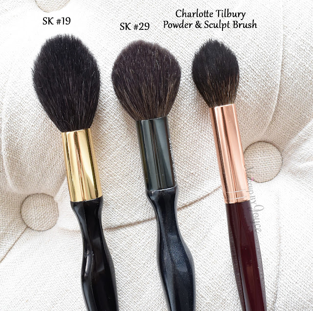 Sonia Kashuk Tools Pointed Tapered Powder Brush No. 19 vs No. 29 Review