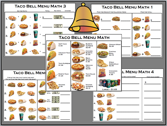 Printables Menu Math Worksheets menu math worksheets fireyourmentor free printable empowered by them mexican style style