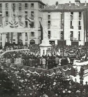 beccaria monumento inaugurazione milano piazza