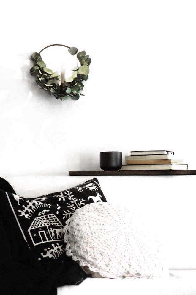Kranz, Adventskranz, Eukalyptus, Eukalyptuskranz, Weihnachtsdeko,Weihnachten, Wandkranz, Kranz binden, DIY, selber machen, Anleitung