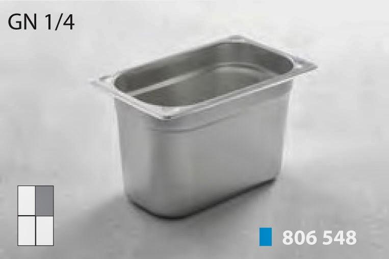 Tava din Inox GN 1/4 (26,5x16,2 cm) pentru Bucatarie, Vaschete Profesionale Horeca pentru Frigidere si Cuptoare, Import Olanda, www.amenajarihoreca.ro