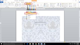 Cara Membuat text box menjadi transparan di ms. word