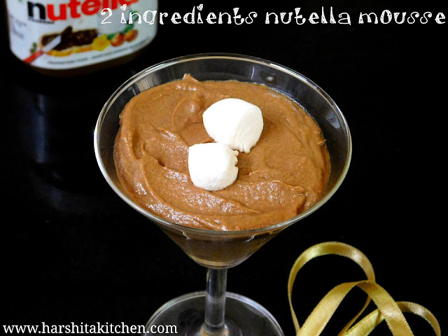2 ingredients nutella mousse recipe