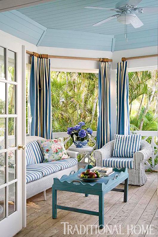 Coastal Porch White Wicker Furniture Set