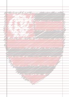 Papel Pautado do Flamengo Riscado para imprimir na folha A4