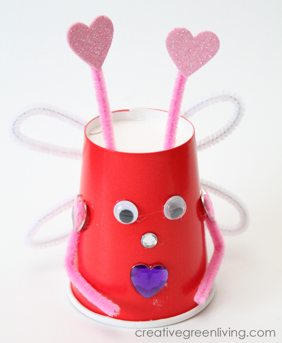 How To Make Love Bugs With Recycled Paper Cups Creative