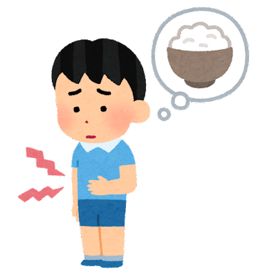 お腹が空いた子供のイラスト(男の子)