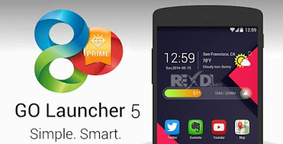 GO Launcher Z Prime VIP Apk for Android + Themes Pack