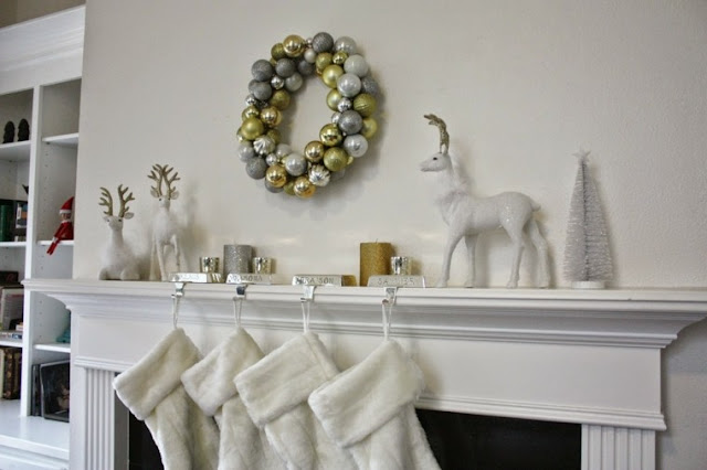 Christmas ornaments the modern white