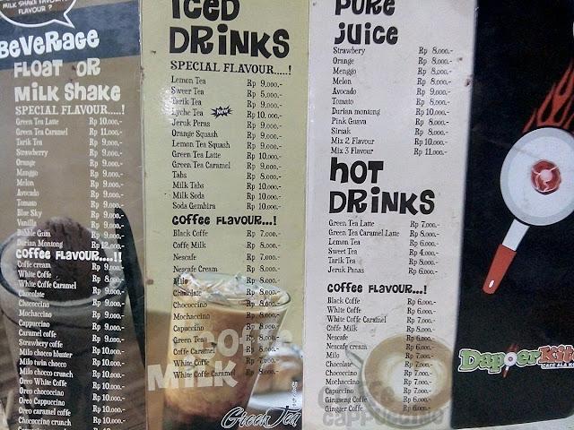 Dapoer Kite - Cafe Ala Kaki Lima -  minuman