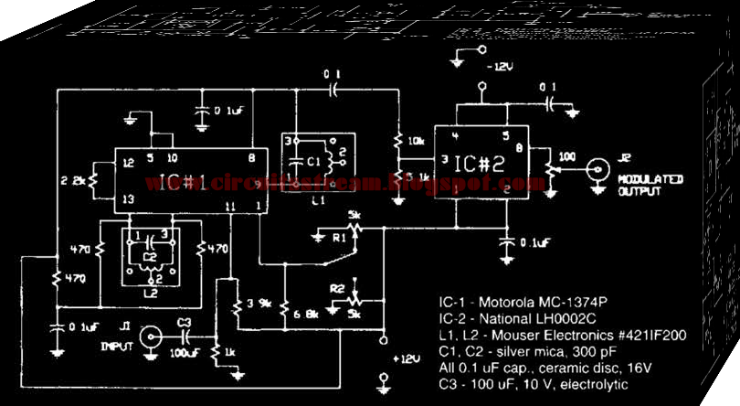 Simple 555 Fm Circuit Diagram