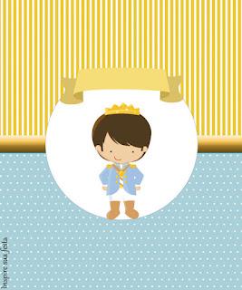 Etiquetas de Príncipe Azul  para imprimir gratis.