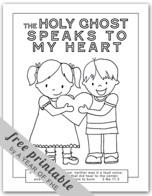 A Year Of Fhe Year 02 Lesson 43 The Holy Ghost The Holy Ghost Helps Me Coloring Page