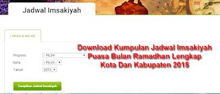 Download Lengkap Jadwal Imsakiyah Puasa Ramadan 2015 Semua Kota DI Indonesia 2015