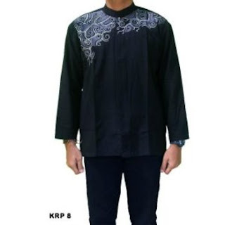 jual baju koko kombinasi batik