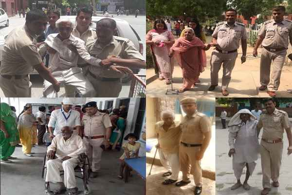 faridabad-police-help-vote-senior-citizen-12-may-2019-loksabha