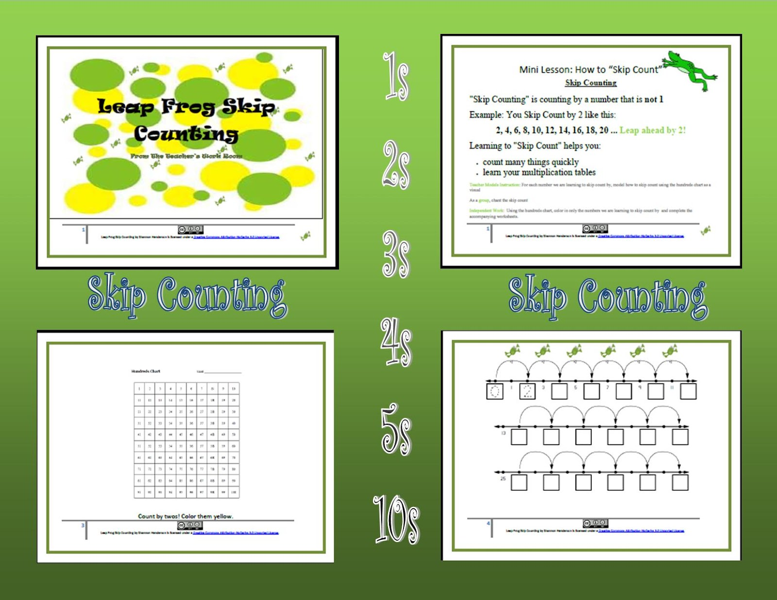 Classy Gal Designs And Publishing Skip Counting 2s 3s 4s