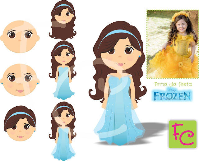 Cartoon Frozen - Festa Infantil