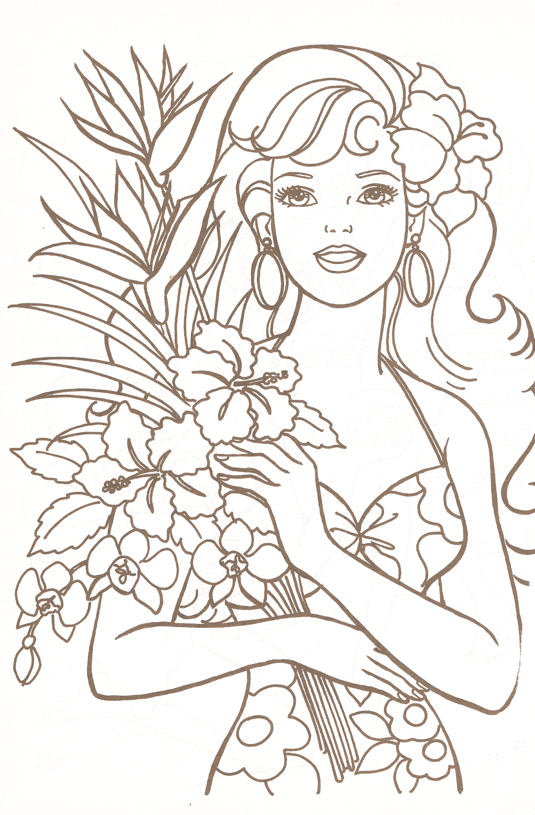 barbie coloring pages com - photo#1