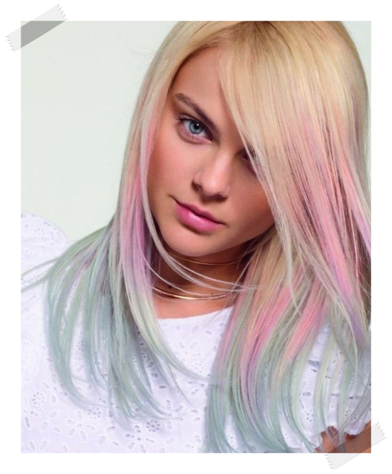 blorange pink blonde rose gold dip dye