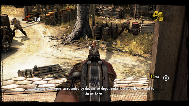 Surrounded by enemies Call of Juarez
