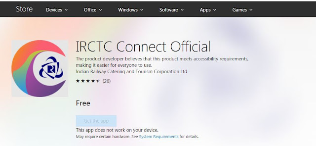 Official IRCTC app updated with new design in Windows Store