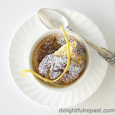 Magical Meyer Lemon Pudding Cakes / www.delightfulrepast.com