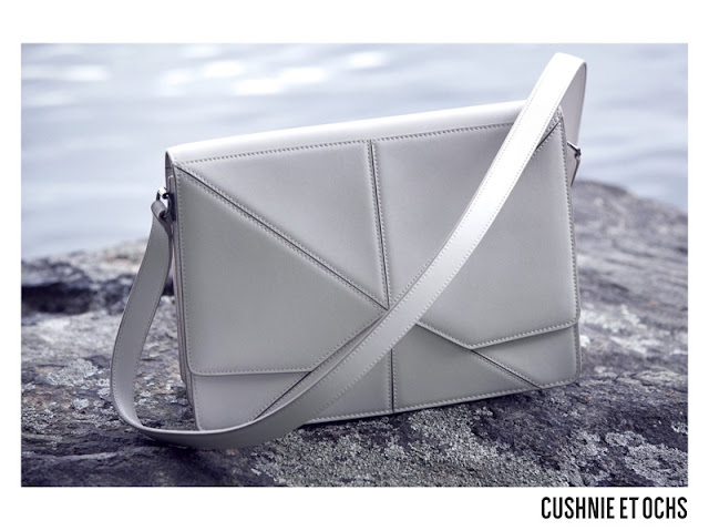Cushnie et Ochs features white handbag in fall-winter 2017 campaign