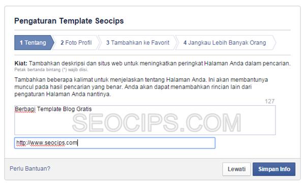 Cara Membuat Fanspage Facebook Langkah 4