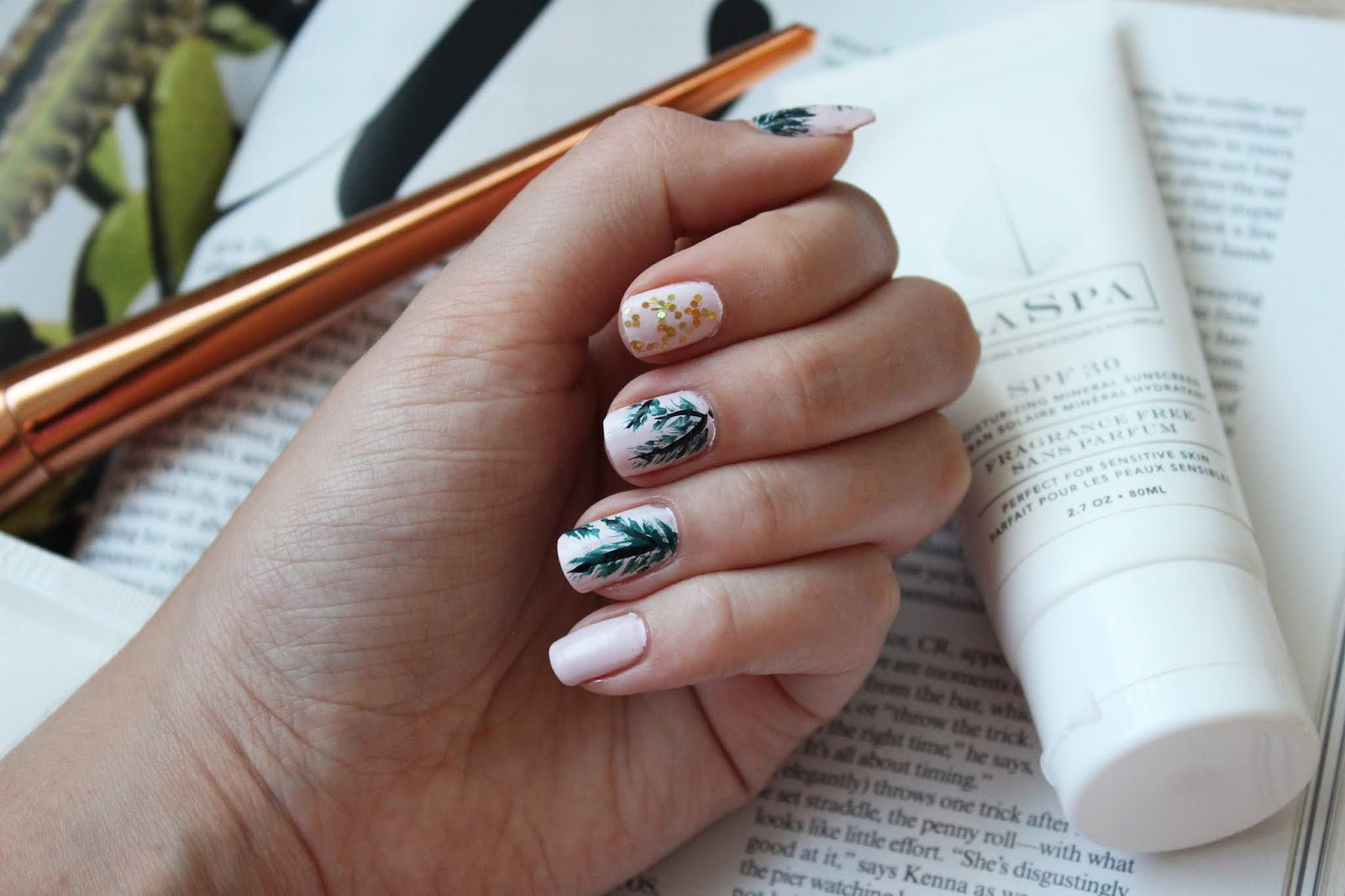 Pink Painted Palm Leaf Mak A Style Beauty Blog By Mikayla Ann