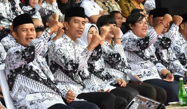 Jokowi telah mengeluarkan Peraturan Pemerintah (PP) Nomor 49 tahun 2018 tentang Manajemen Pegawai Pemerintah dengan Perjanjian
