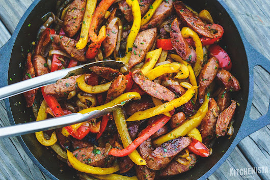 #WeeknightKitchenista: Skillet Sausage & Peppers (and a Beginner's Cooking Lesson!)