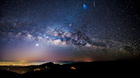 The Milky Way Galaxy, Meteor and Ariane 5 Rocket over Thailand