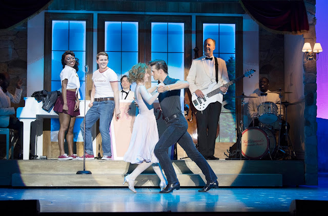 A still from the Dirty Dancing stage show, featuring Johnny, Baby and supporting cast.